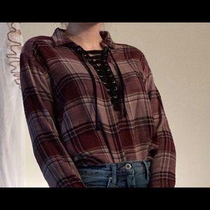 American Eagle Women's flannel (small/medium)